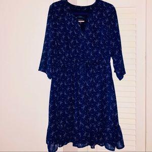 ModCloth Chiffon Shirtdress with Ruffle hem